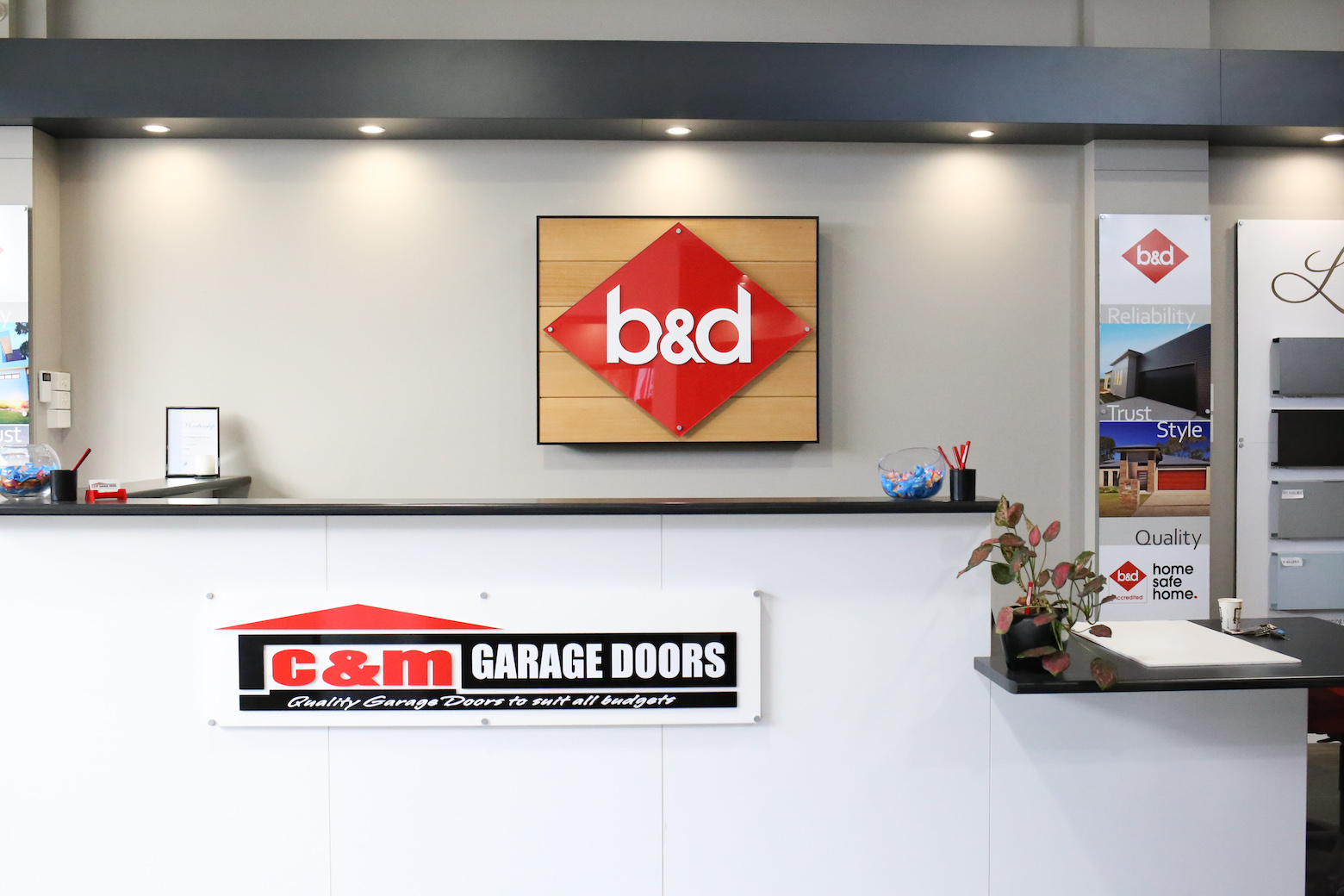 C&M Garage Doors Showroom