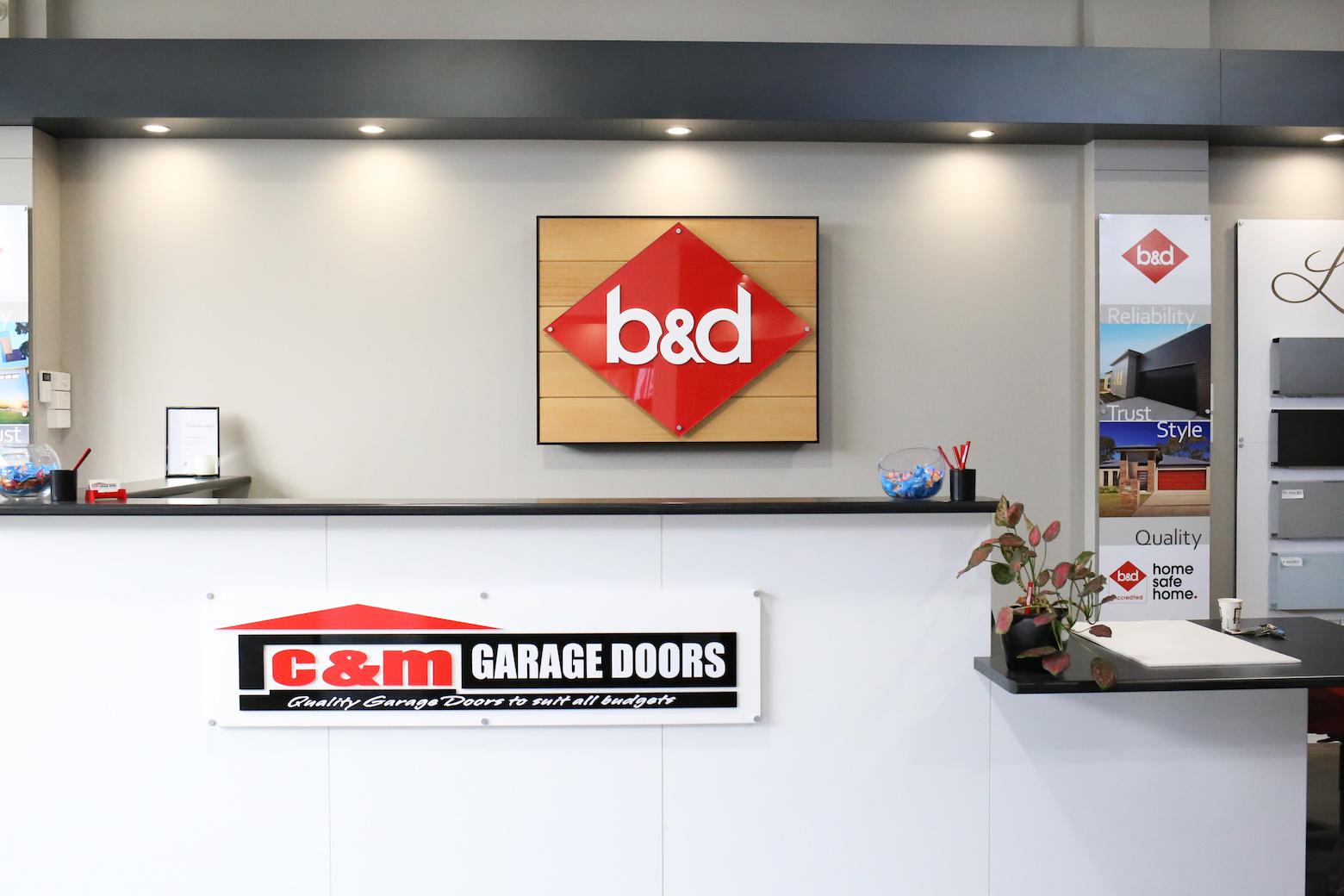 C&M Garage Doors Showroom