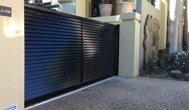Sliding Aluminium Louvred Gate